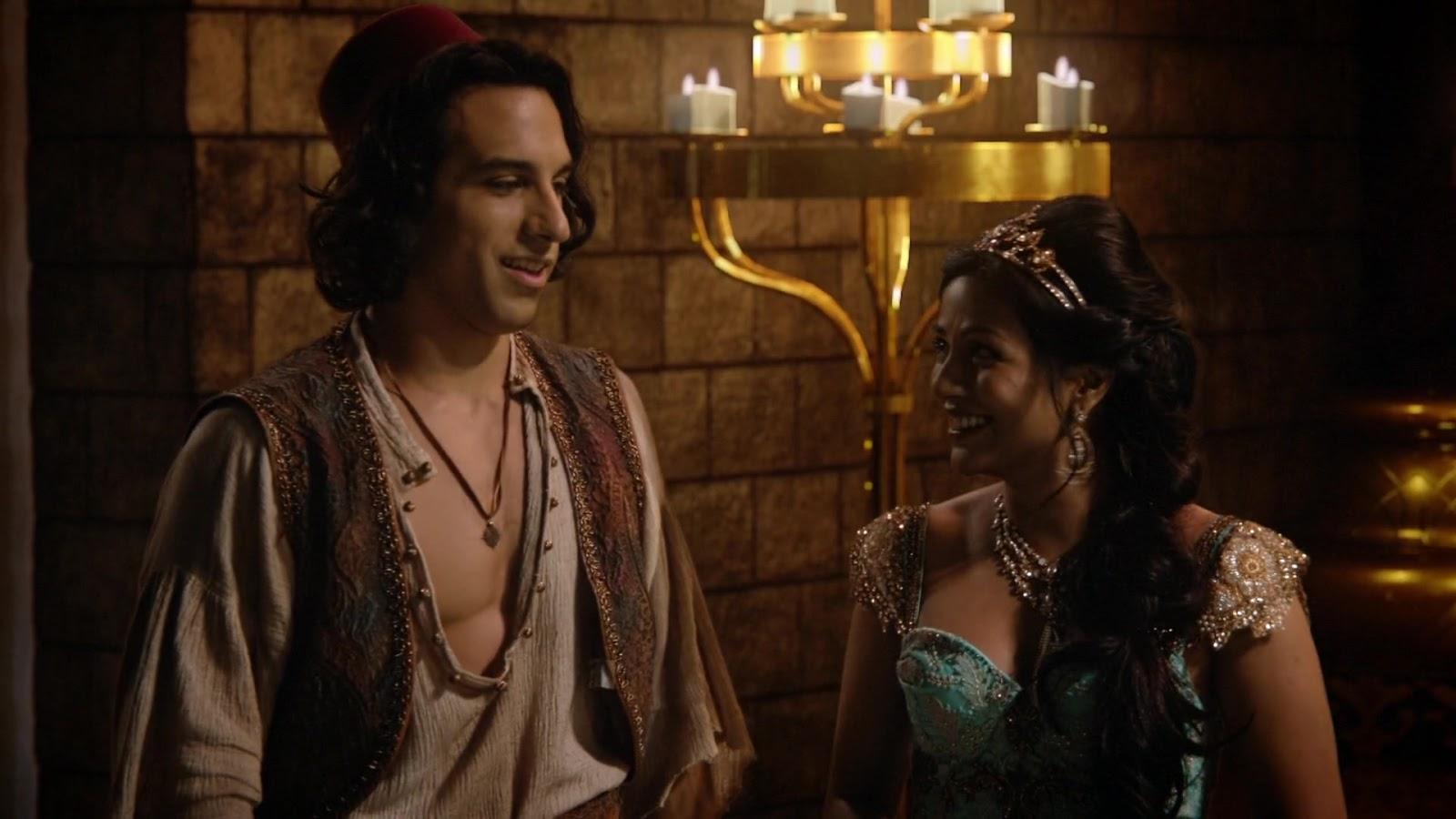 Once Upon a Time 6x05. Aladdin y Jasmine tras liberar al Sultán del hechizo de Jafar