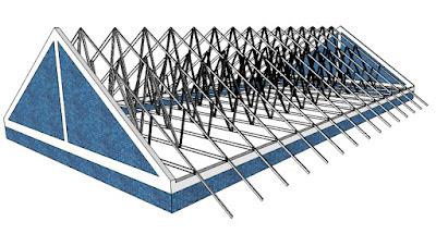 rangka atap baja ringan model limas aplikasi untuk ~ wahana tri karya