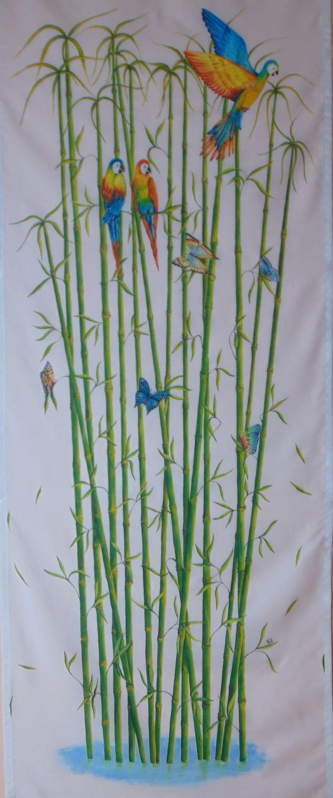 Idee In Atelier Di Liz Realizzare Un Dipinto Su Tenda