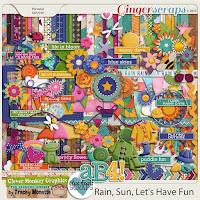 kit : Rain, Sun, Let's Have Fun by Clever Monkey Graphics & Blue Heart Scraps