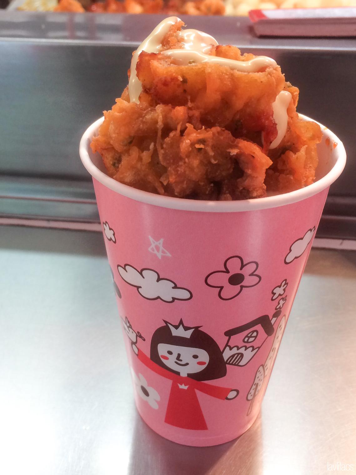 Seoul, Korea - Summer Study Abroad 2014 - Edae Street Eats - Cup Chicken