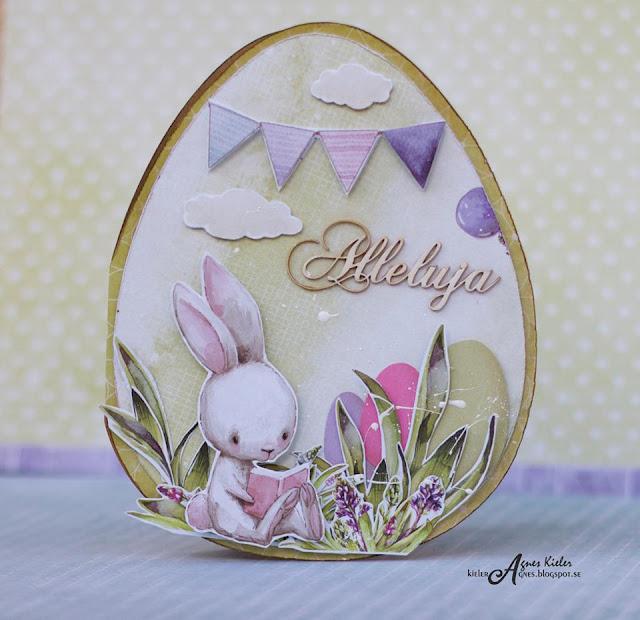 Wielkanocna kartka z zajączkiem