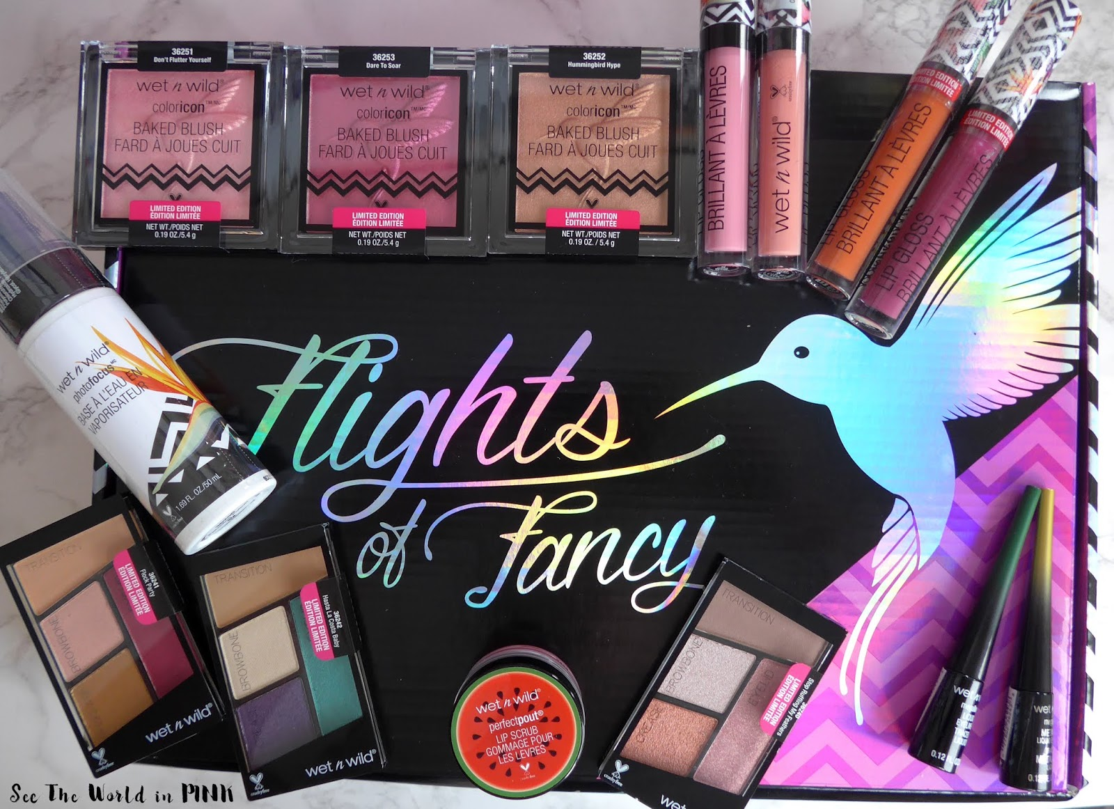"Wet N Wild ""Flights of Fancy"" Summer Collection Box - Swatches, Makeup Look and Review!"