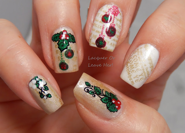 MoYou London Festive 17 with Zoya holiday 2015 Matte Velvet polishes