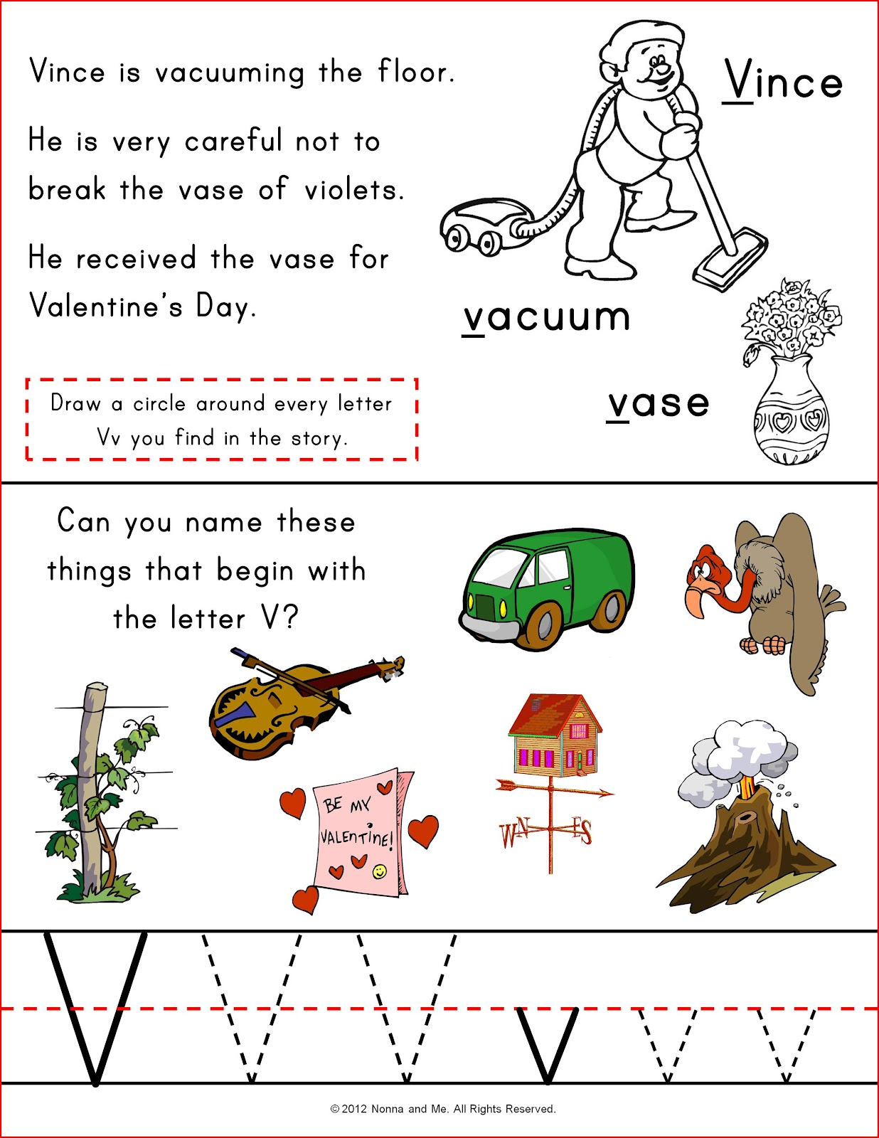 Nonna And Me Vince And Walt Alphabet Activity Sheets