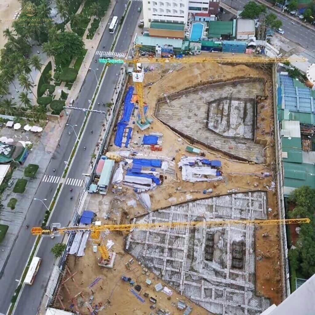 Cập nhật tiến độ xây dựng Beau Rivage Nha Trang tháng 1 - 2019