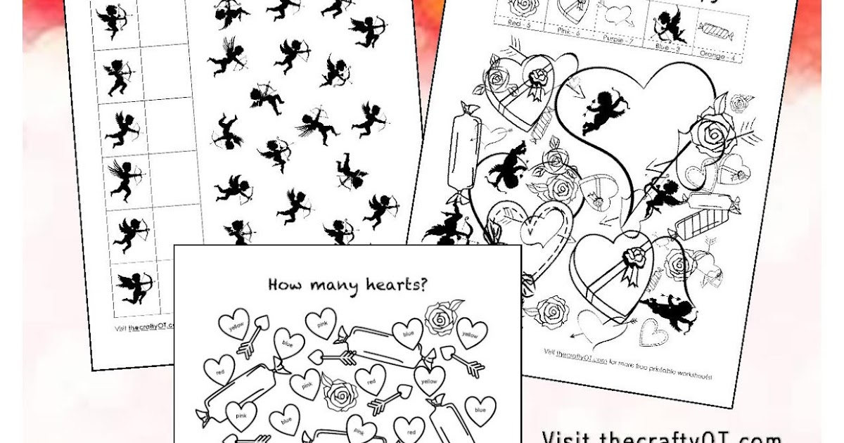 Printable Worksheets free visual perceptual worksheets : the crafty OT: Free Valentine's Day Worksheets