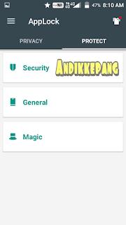 cara menghilangkan applock domobile dari menu utama