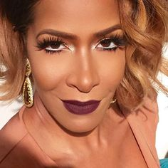sheree whitfield, stila cosmetics, make up,  fotd, motd, kurvaciousbella