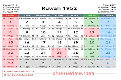 Kalender Jawa April 2019 Dilengkapi Weton dan Wuku