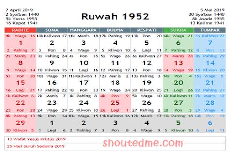 Kalender 2020 Ada Tanggal Jawa