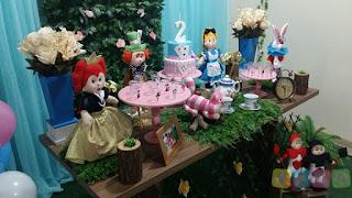 Decoração festa infantil Alice no País da Maravilhas Porto Alegre