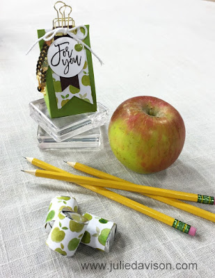 Stampin' Up! Fruit Stand + Thoughtful Branches Back to School Teacher Treat 2-4-6 Box #stampinup #thoughtfulbranches www.juliedavison.com