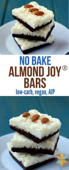 No-Bake Healthy Almond Joy Bars (Low Carb, Vegan, Gluten Free, AIP)