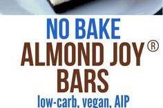 No-Bake Healthy Almond Joy Bars (Low Carb, Vegan, Gluten Free, AIP)