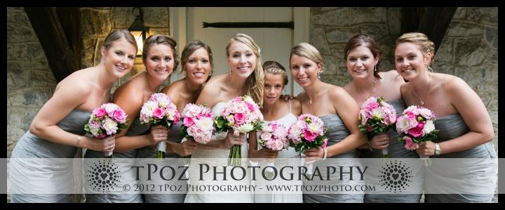 Bridesmaids Wedding Photo Landis Valley Museum