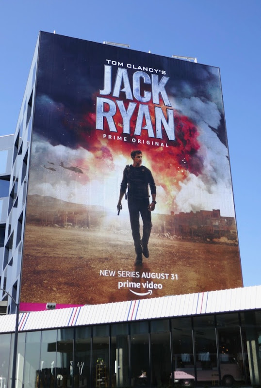 Giant Jack Ryan Amazon Prime series billboard