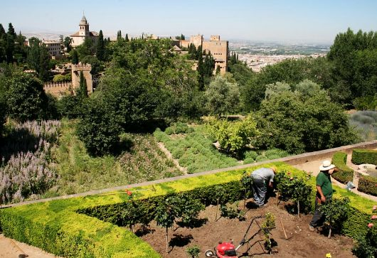 Gardens of the Alhambra Palace. Granada, Spain