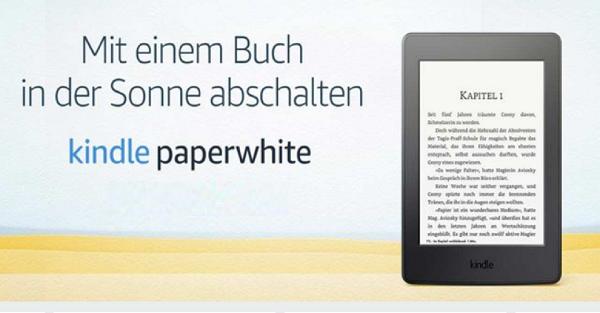 przedwakacyjna przecena na Kindle Paperwhite 3 w Amazon.de