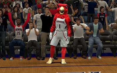 NBA 2K13 Atlanta Hawks Mascot Update