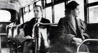 Rosa Parks on a bus (undated)
