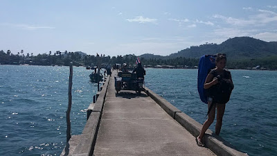 arriving on the jetty at Ko Muk