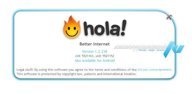 Hola Accelerator & Unblocker Versión 1.2.238