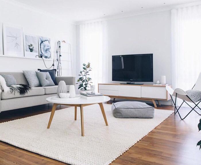 mobile porta tv moderno e di design bianco cassetti