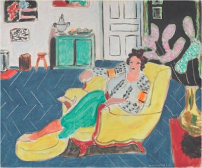 P1 femme assise dans un fauteuil jaune - Matisse