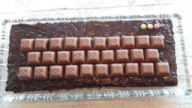 Tastatur-Kuchen mit Schogetten