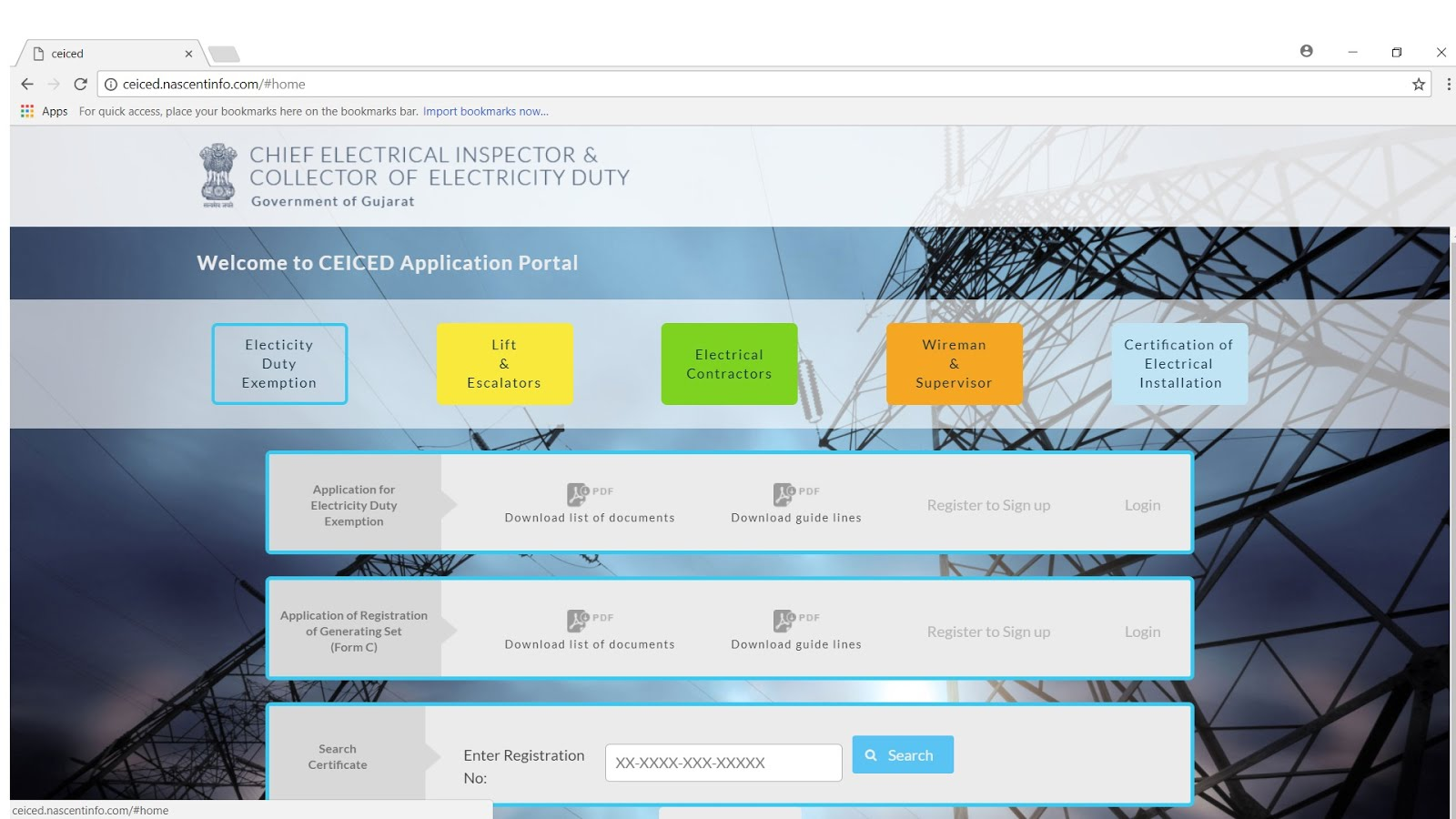 Electrical installation and plan approval process that have to be processed online now in this list several applications in the ceiced portal are as under certification of electrical installation xflitez Images