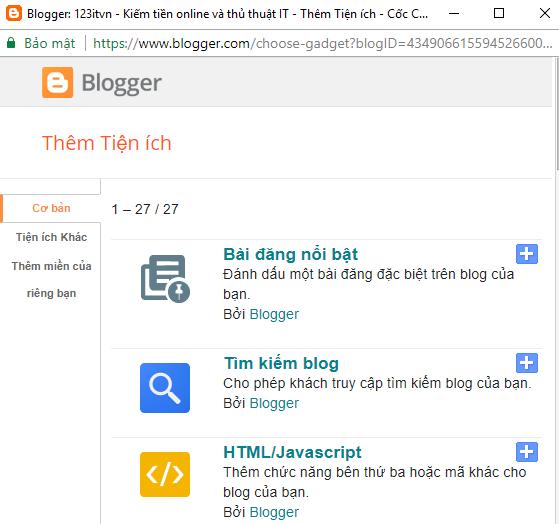 Những hạn chế khi sử dụng blogspot