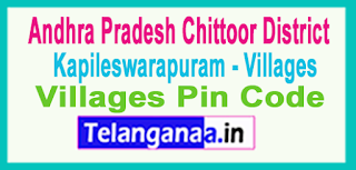 East Godavari District Kapileswarapuram Mandal and Villages Pin Codes in Andhra Pradesh State