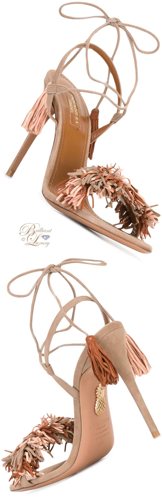 Brilliant Luxury ♦ Aquazzura Pom Pom Sandals