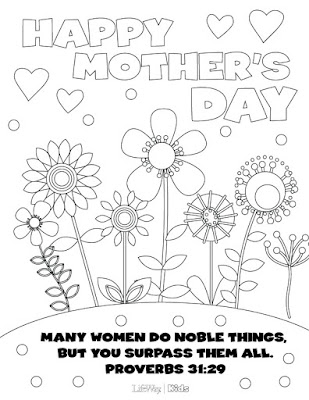 Happy Mother's Day 2019 Coloring Pages