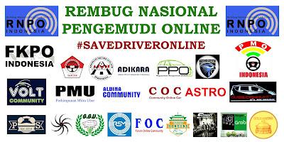 Spanduk Rembuk Nasional Pengemudi Online