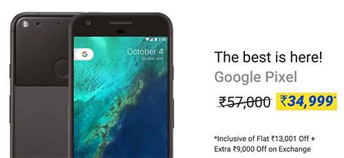 Google Pixel | 4GB RAM + 32GB ROM @ Rs.34,999/-