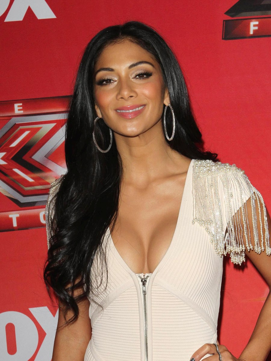 Nicole Scherzinger Shows Off Her Cleavage  X-Factor Press Conference -9244