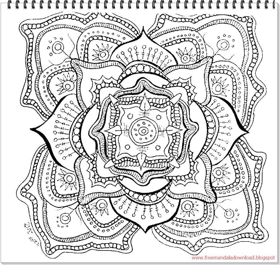 Nature Mandala Coloring - Free Mandala
