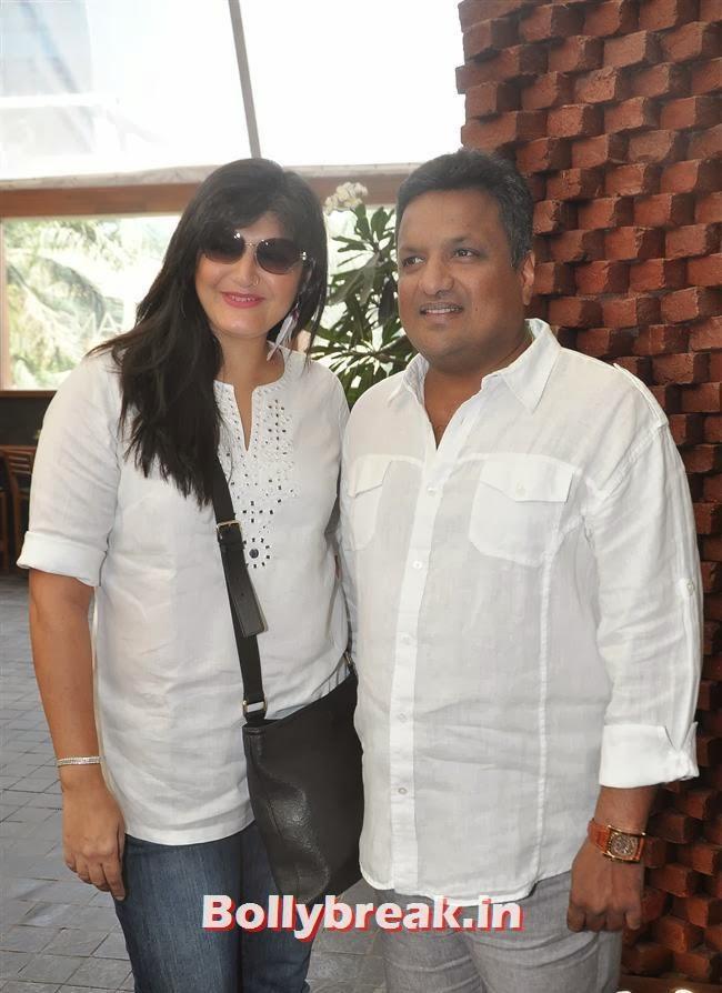 Sanjay Gupta with his wife Anu