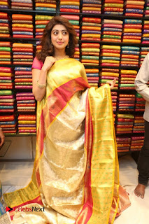 Actress Pranitha Subhash inaugurates VRK Silks Showroom 0075