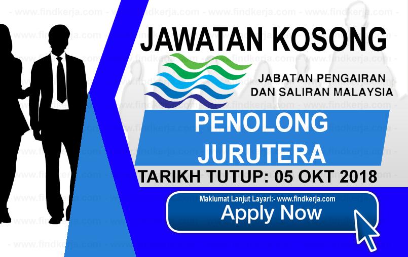 Jawatan Kerja Kosong Jabatan Pengairan dan Saliran logo www.ohjob.info www.findkerja.com oktober 2018