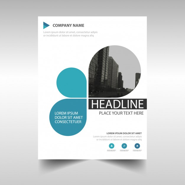 Blue creative annual report book cover template Free Vector
