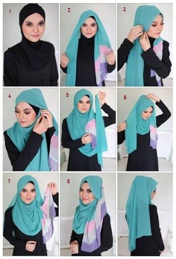 tutorial hijab segi empat untuk kebaya terbaru