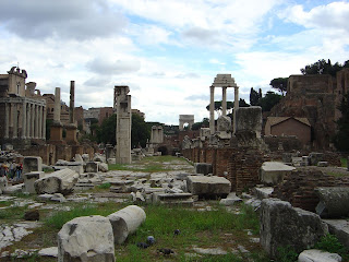 The ruins of the Forum in Rome