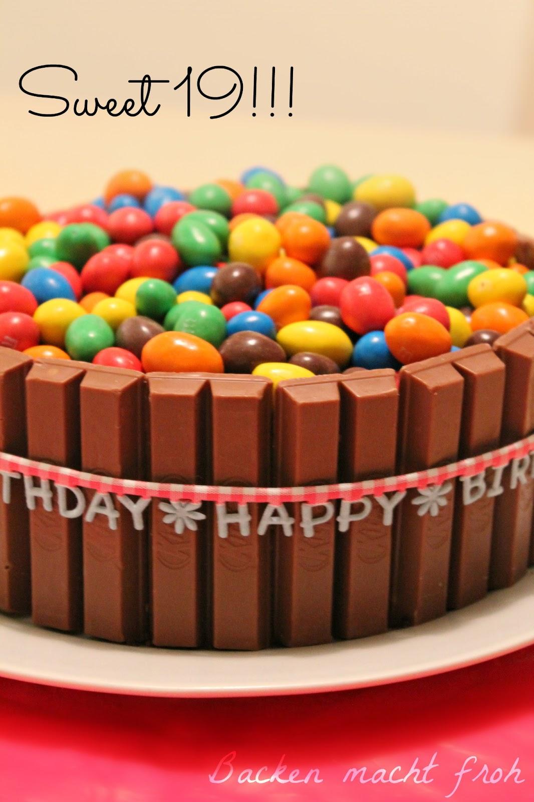 Backen Macht Froh Kochen Ebenso Geburtstagskuchen Sweet 19