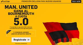 betfair Man. United gana Bournemouth supercuota 5 Premier League 14 agosto