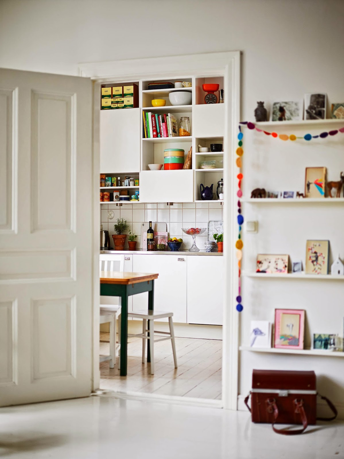 my scandinavian home a cheerful swedish home with flashes of bright colours. Black Bedroom Furniture Sets. Home Design Ideas