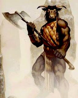 El dios Gurzil, en actitud poco amistosa, por cierto.