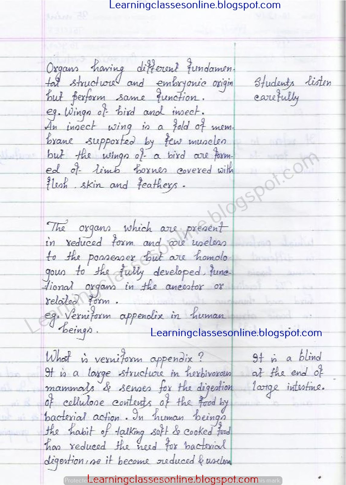 Class 9th Lesson Plan science on organic evolution in english